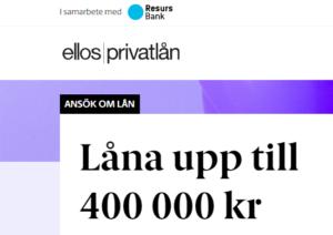 Ellos Privatlån